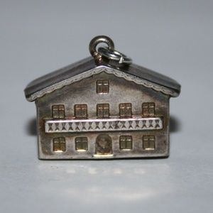 Vintage silver building charm or pendant